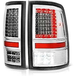 Sale VIPMOTOZ C-Shape Full LED Tail Light Lamp For 2009-2019 Dodge RAM 1500 2500 3500 - [Factory Incandescent Model] - Metallic Chrome Housing Driver & Passenger Side