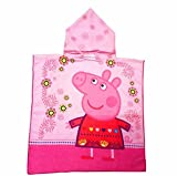 SWEETXIN Infant Kids Animal Design Hooded Bath/Beach Poncho Towel (Pepe pig)
