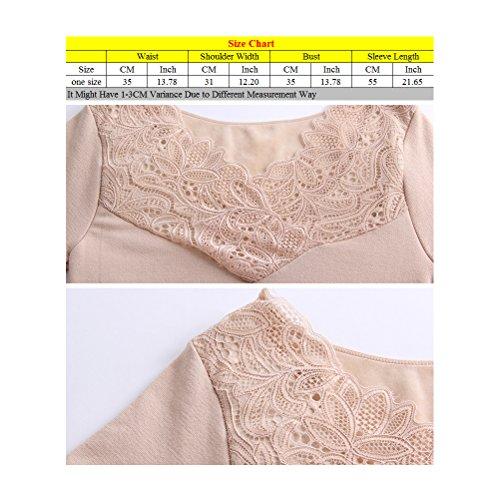 Zhhlinyuan Winter Ladies Mujeres Seamless Plus Velvet Thermal Underwear Thicken Seamless V-neck Shirt Black