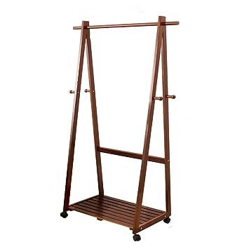 Amazon.com: yxx- perchero de madera maciza recámara sala de ...