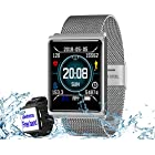 Smart Watch, Fitness Tracker With Heart Rate & Blood Pressure & Sleep Monitor Compatible For IOS & Android, Waterproof Steel Activity Tracker With Color Screen, Calorie/Step Counter For Men Women Kids