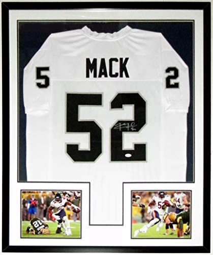 Khalil Mack Signed Rookie Year Jersey & 2018 Chicago Bears Debut Photo - JSA COA Authenticated - Professionally Framed - 34x42