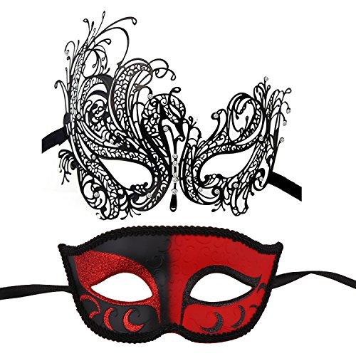 Couple's Masquerade Masks Mardi Gras Mask Venetian Party Mask Halloween Costumes Accessory -