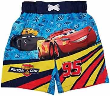 7b2350cbea6e1 Cars 3 Disney Pixar Infant & Toddler Boys Blue Swim Trunks Board Shorts