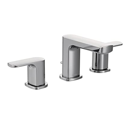 Moen Rizon Two Handle Widespread Bathroom Faucet Without Valve   Faucet  Parts, Chrome (