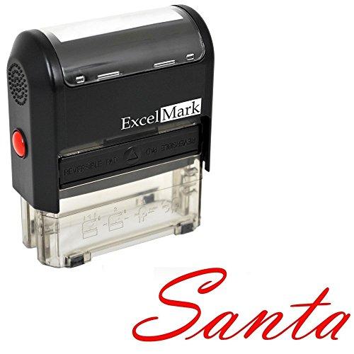 Santas Signature Rubber Stamp A1539