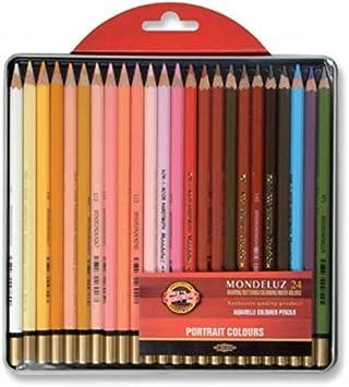 Set of 24 KOH-I-NOOR Polycolor Portrait Artists Coloured Pencils