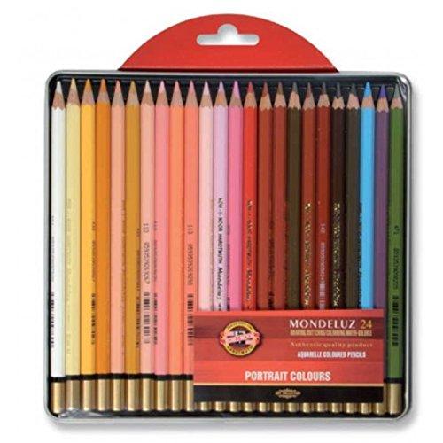 2 opinioni per KOH-I-NOOR Mondeluz Portrait Aquarell Coloured Pencils (Set of 24)