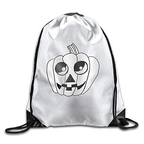 Cute Bat Halloween Drawings Christmas Unisex Gym Drawstring Shoulder Bag Backpack String Bags