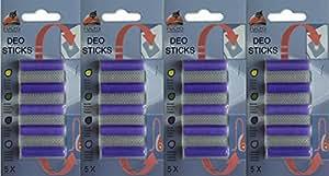 20Deo Variante Sticks Aroma de lavanda: Deo Stick, ambientadores, aire ambientador, para aspiradora, cartuchos de aroma, DEO, habitación Fischer,