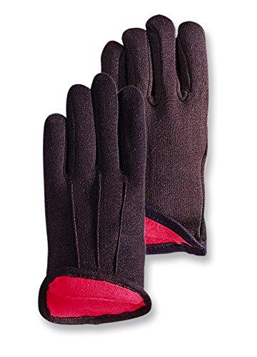 Glove Jersey Premium Brown - Magid CH214T Premium Redined Jersey Gloves Brown ,Large