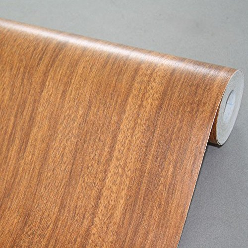 Review SimpleLife4U Brown Wood Textured Vinyl Contact Paper Self-Adhesive Shelf Liner By SimpleLife4U by SimpleLife4U