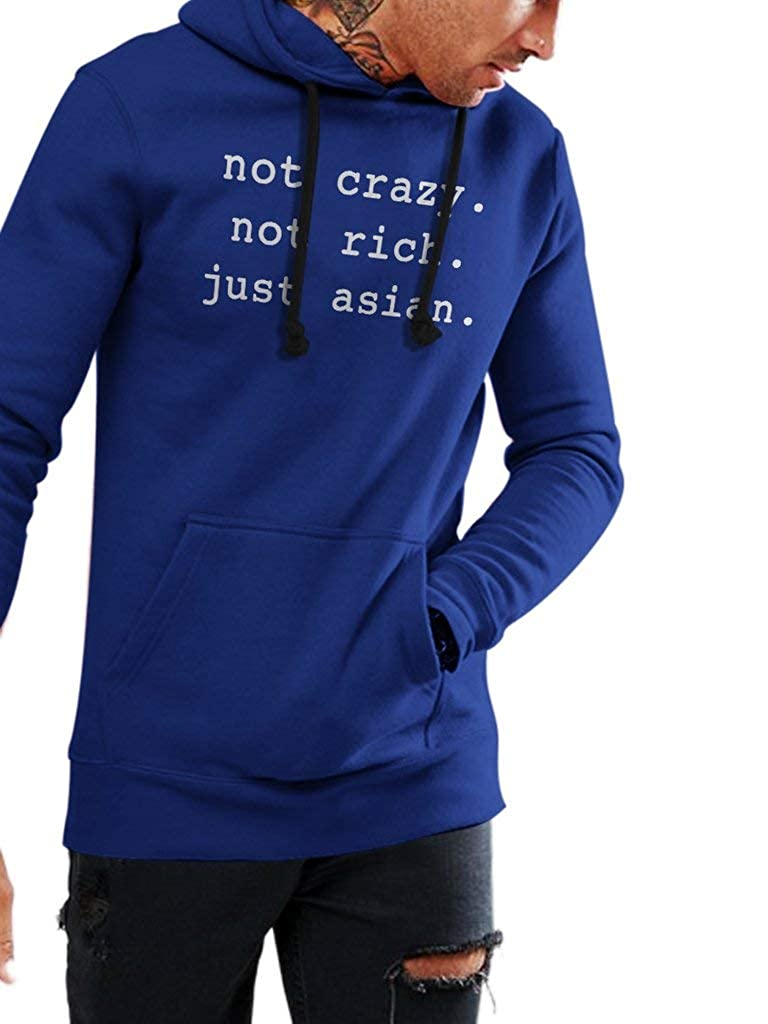 Funny Trending Asian People Unisex Style Hoodie SMLBOO Not Crazy Not Rich Just Asian