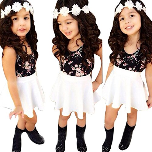 Pink Purple Heart Leg Warmers For Girls (AMA(TM) Toddler Kids Baby Girls Sleeveless T-Shirt Top +Skirt Outfits Clothes Set (4T, Black))