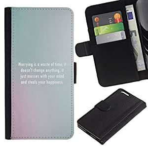 All Phone Most Case / Oferta Especial Cáscara Funda de cuero Monedero Cubierta de proteccion Caso / Wallet Case for Apple Iphone 6 PLUS 5.5 // inspirador mensaje gris motivación