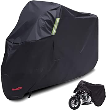 Large Motorbike Cover Extra XL Outdoor Waterproof Motorcycle All Weather Rain...
