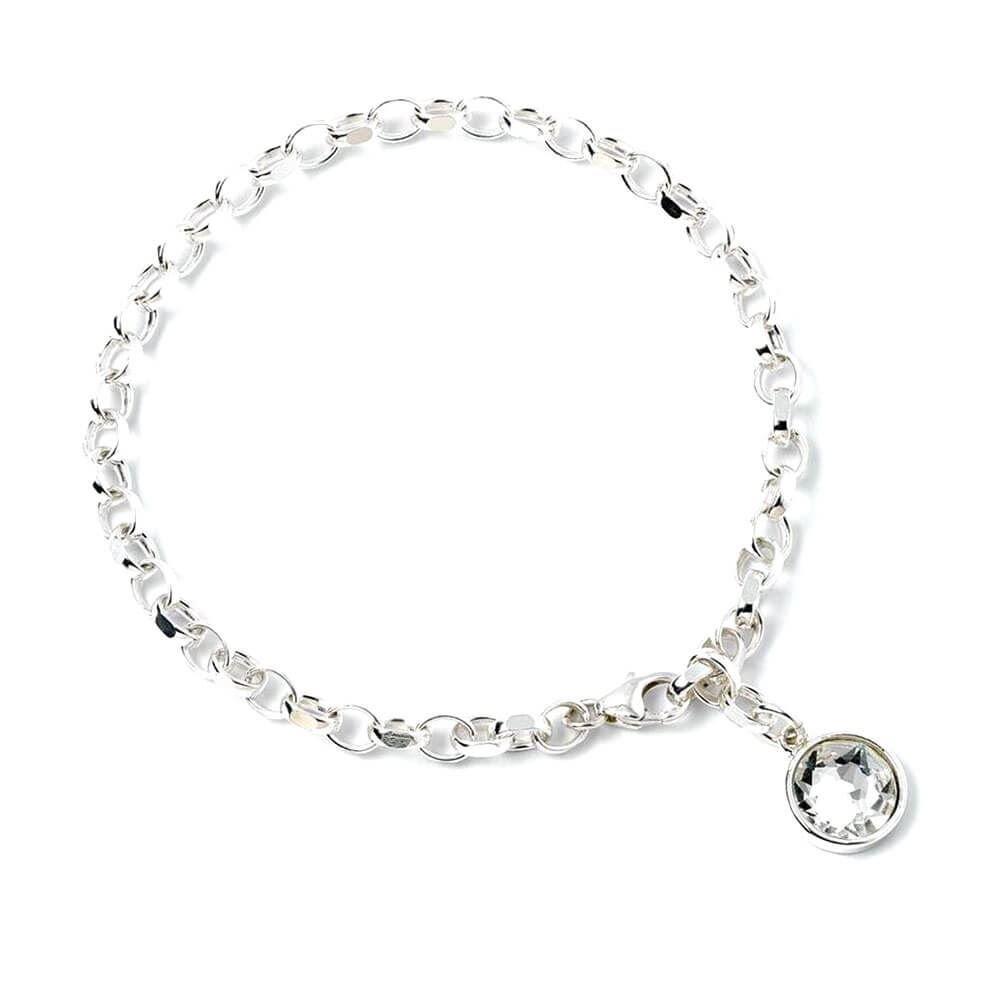 f571ddca7c478 HARRY POTTER Sterling Silver Swarovski Crystal Bracelet: Amazon.co ...