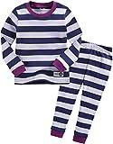 Vaenait baby Kids Girls Sleepwear Pajama 2pcs Set Color Magic Purple Navy L