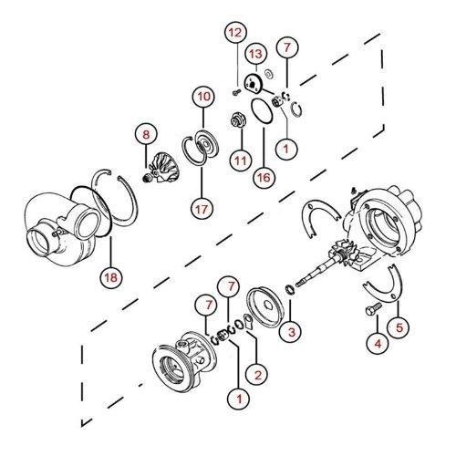 Amazon.com: Turbo Rebuild Kit Repair Kit for Nissan 200SX CA18DET Garrett TB25 1441114F00 1441114F01 Turbocharger 360 Degree Dynamic Seal: Automotive