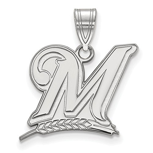 Milwaukee Brewers M Logo Large Pendant (Sterling Silver)