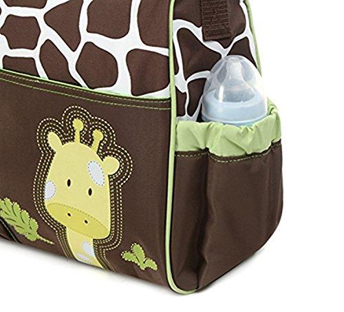 niceEshop(TM) Multifunción Momia Bolsa de Pañales del Bebé del Pañal del Bolso(Tigre Rosa) Verde