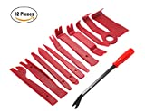 Yamlion 12 Pieces Auto Trim Removal Tool Set, Car Audio Dash Door Panel Window Removal Pry Tool for Removing and Installing Fasteners, Trims, Molding (Red)