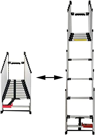 XSJZ Escalera de Extensión, Escalera Recta Telescópica Plegable Multifunción Portátil de Aluminio de Aleación de Elevación de Extensión Recta (2 Tamaños) Escalera Plegable (Size : 5.24m): Amazon.es: Hogar