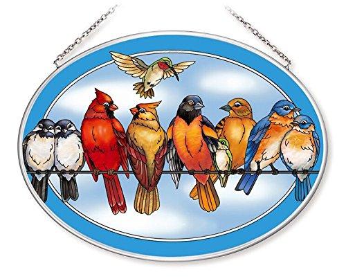 Amia Songbird Large Oval Suncatcher