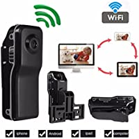 Aperfect 8GB Mini Portable P2P WIFI IP Wireless Camera Outdoor Sport Camcorder HD Video Camera for iPhone ,Android phone, Android iPad, MAC, PC Remote View