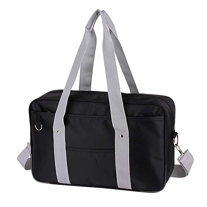 Japanese Anime Cute Crossbody Bag Womens High School Messenger Bag  Black grey Cross Strap 54761526be3f2