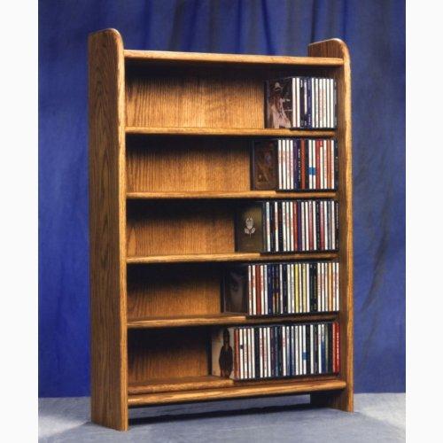 5 Shelf CD Storage (Honey Oak)