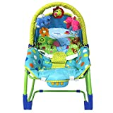 JXWANG Baby Bouncer Portable Rocker And Removable Toy Bars,Elephant