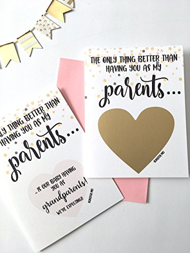 (Pregnancy Scratch Off Card for Parents - Baby Reveal - New Grandparents)