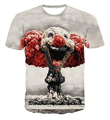 ARCITON Men's Short Sleeve 3d Creative Graffiti Print Slim fit Hip Hop T-shirts