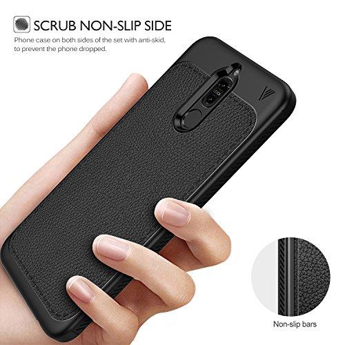 Huawei mate 10 lite / Huawei Nova 2i case, KuGi [Shock/ Scratch Absorption Protection] SS Durable Anti-Slip Flexible Rubber Soft TPU Bumper Case for Huawei mate 10 lite smartphone (Black)