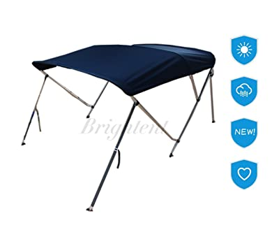 Bow Boat Canopy/Cover (Bimini Top) with Free Support Poles and Towel Clips detail review
