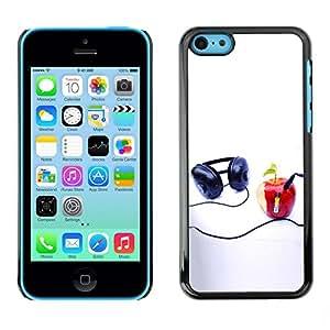 TopCaseStore / la caja del caucho duro de la cubierta de protección de la piel - Funny Apple Music Player - Apple iPhone 5C