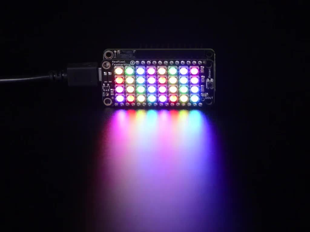 Adafruit LED Lighting Development Tools NeoPixel FeatherWing