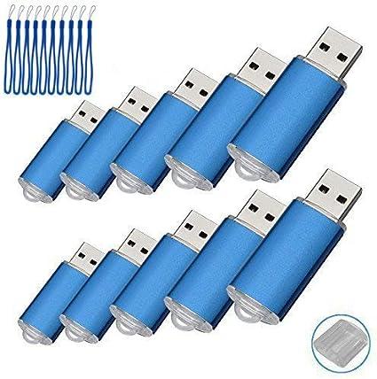 TALLA 8 gb. Paquete con 10memorias USB. Pen Drive USB 2.0 (8.0GB)