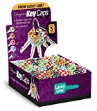 Lucky Line Designer key Caps, Box of 200 Assorted Designs (16300)