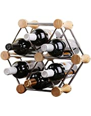 DORLIONA Hundred-Variable Styling, Arbitrary Assembly of Classic Style Bottle Wine Racks-Perfect Bars, Cellars, Basements, Cabinets, Food Cabinets, etc.-Hold 6 Bottles