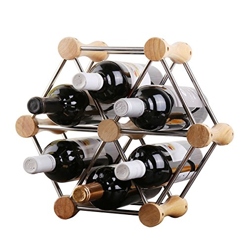 Hundred-Variable Styling, Arbitrary Assembly of Classic Style Bottle Wine Racks-Perfect Bars, Cellars, Basements, Cabinets, Food Cabinets, etc.-Hold 6 Bottles by Generic