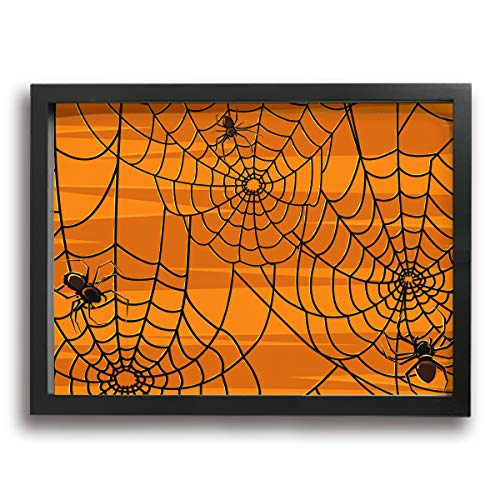 Twinkprint Fashion Framed Decorative Painting Scary Halloween Spiders Graphics Canvas Wall Art Hanging Picture Artwork Wall Decoration -