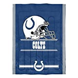 """Officially Licensed NFL Indianapolis Colts """"Safety"""" Twin Comforter and Sham Set, 64"""" x"""