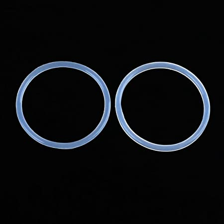 X AUTOHAUX 50pcs White Silicone Rubber Car O-Ring Seal Gasket Washer 23x1.5mm