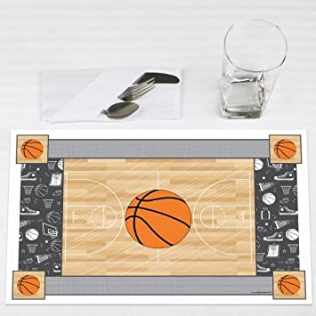 Nothinu0027 But Net   Basketball   Baby Shower Or Birthday Party Placemats    Set Of