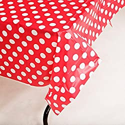 Red Polka Dot Tablecover