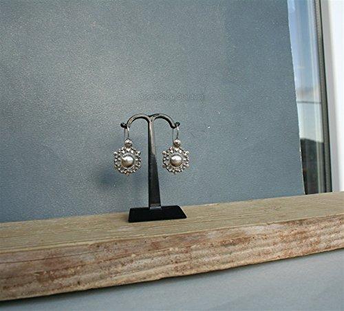 Silver Filigree Earrings, Ethnic Croatian Jewelry, Floral Earrings,Sterling Silver Drop Earrings *Exp Shipping Sterling Floral Filigree Earrings