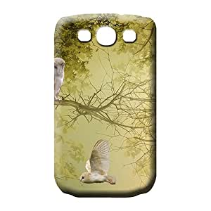 samsung galaxy s3 cell phone carrying skins Plastic case Perfect Design owls in trees