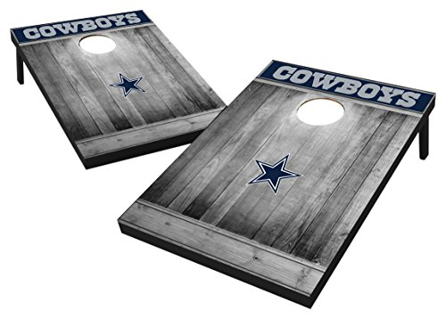 - Wild Sports 2'x3' MDF Wood NFL Dallas Cowboys Cornhole Set - Grey Wood Design